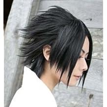 Amybria Popular Sasuke Short Black Straight Cosplay Wig
