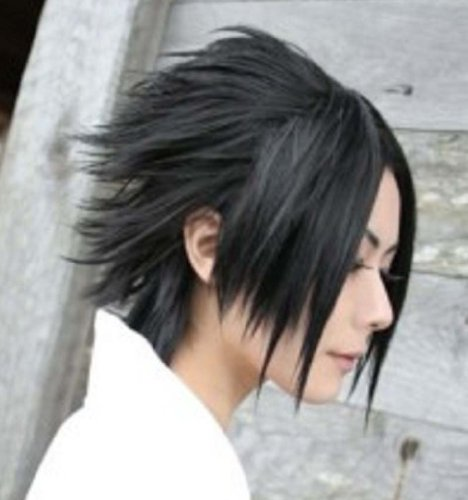 Amybria Popular Sasuke Short Black Straight Cosplay Wig
