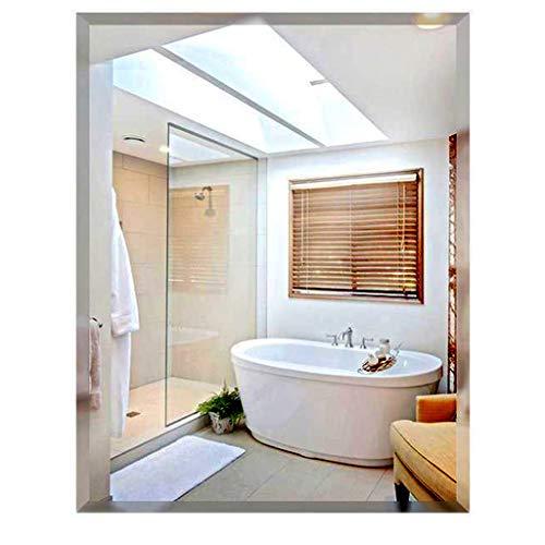 ZXXX Frameless Rectangle Wall Mirror   Bathroom, Vanity, Bedroom Rectangular Mirror Bedroom, - Mirrors Pivoting Horizontal Bathroom