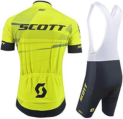 XIAKE Conjunto de Ropa de Ciclismo para Hombre, Maillots de Manga Corta para Bicicleta con Pantalones Cortos de Bicicleta: Amazon.es: Deportes y aire libre