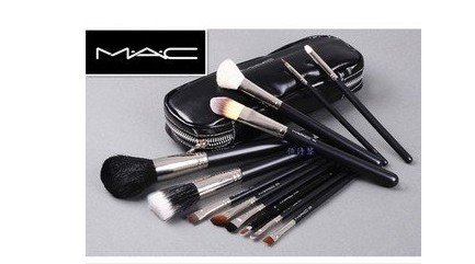 MAC 12 pcs Professional Cosmetic Makeup Brushes Set with Pu Leather Cover: Amazon.co.uk: Health & Personal Care