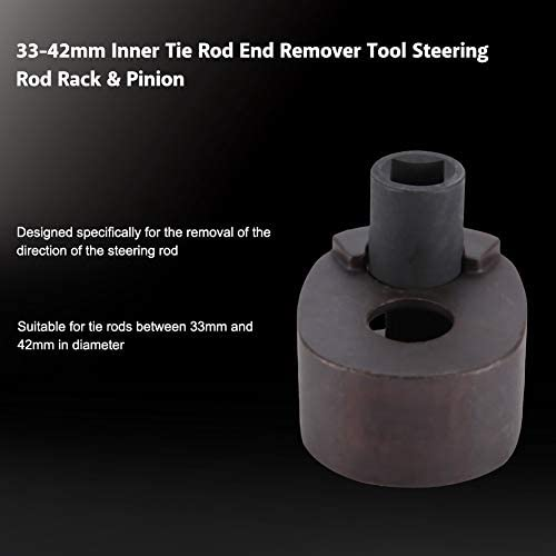 33-42mm Inner Tie Rod End Remover Tool Steering Rod Rack /& Pinion For Remove The Direction of The Steering Rod Inner Tie Rod End Remover Black
