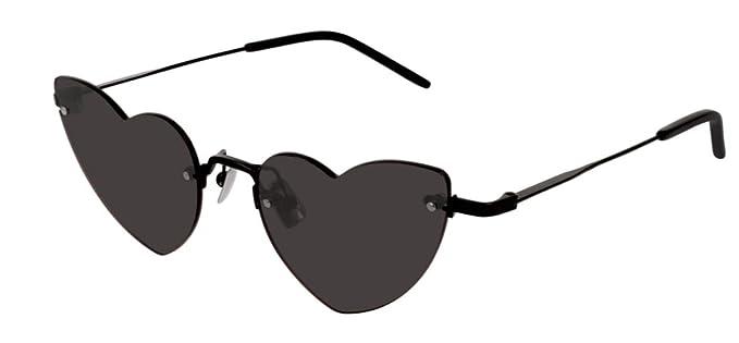 461b101fae45 Image Unavailable. Image not available for. Color: Saint Laurent SL254 001  Black LOU LOU Cats Eyes Sunglasses ...