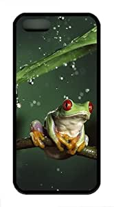 Tiny Tree Frog TPU Case Cover For iPhone 5 and iPhone 5S Black