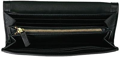 Fossil Caroline Continental Flap Wallet Black Wallet