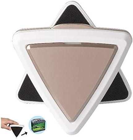 磁気水槽ガラスクリーナー、LEDライト付きスクラバーブラシノンスリップフローティング強力な超吸引マグネット洗浄装置、水生藻洗浄用