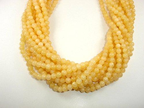 Gemstone Jade Earrings - jennysun2010Natural Yellow Jade Gemstone 3mm SmoothRoundLooseBeads Length15.5''Inches(38.5cm)1StrandperBagforBraceletNecklaceEarringsJewelryMakingCraftsDesignHealing