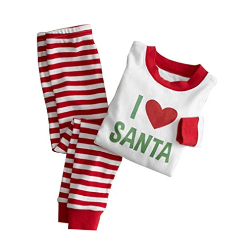 Notte per e da Degli le Bianco Indumenti Ragazza Adulti Famiglia Natale Set Rosso di Vacanze dei Bambini per Pajamas Vestiti AqgUTf