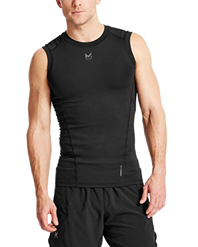 Mission Men's VaporActive Voltage Sleeveless Compression Shirt, Moonless Night, Large