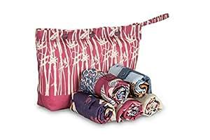 Envirosax Oriental Spice Pouch Reusable Shopping Bags (Set of 5), Multicolor