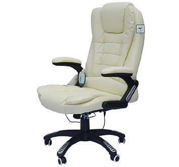 Chaise de bureau pivotante fauteuil direction de massage electrique