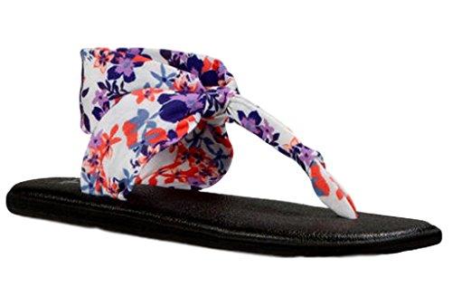 Sanuk Womens Yoga Sling Ella Prints Slingback Sandal Liberty Waikiki Floral Size 8