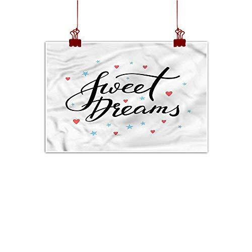Wall Painting Prints Sweet Dreams,Hearts and Stars 20