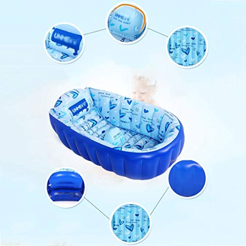 LDY Blue-Inflatable Baby Bathtub, Newborn Inflatable Foldable Shower Pool by LDY (Image #2)