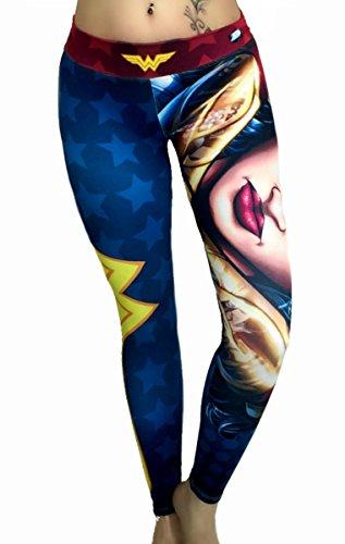 Wonder Woman Leggings Superhero Yoga Pants Compression Tights