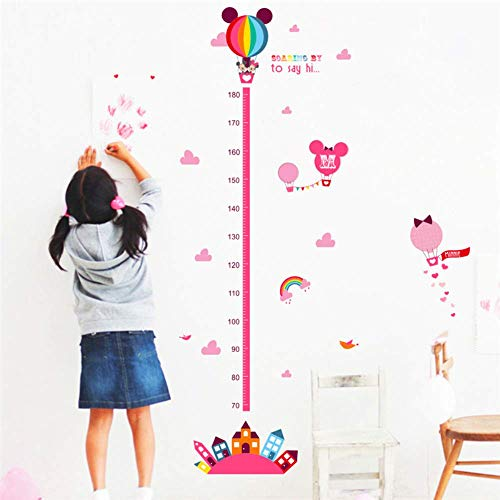 RONGAN Creative Cartoon Movie Mini Mouse Growth Chart Wall Art Decal Living Room Home Decoration DIY Sticker Children Gift Height Measurement Chart
