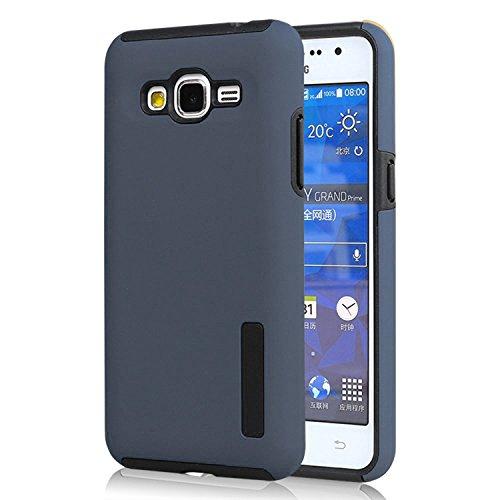 Shockproof Hybrid TPU Case for Samsung Galaxy Grand Prime (Black/Grey) - 7