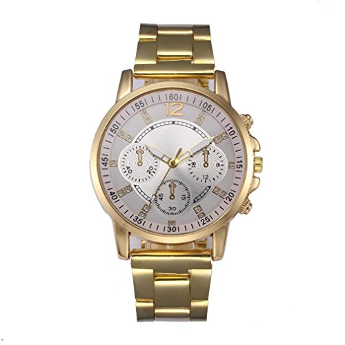 Men Women Watches On Sale, Paymenow Clearance Lover Couple Classic Watch Crystal Stainless Steel Band Fashion Analog Quartz Wrist Watch for Men Women (Gents Designer Watches)