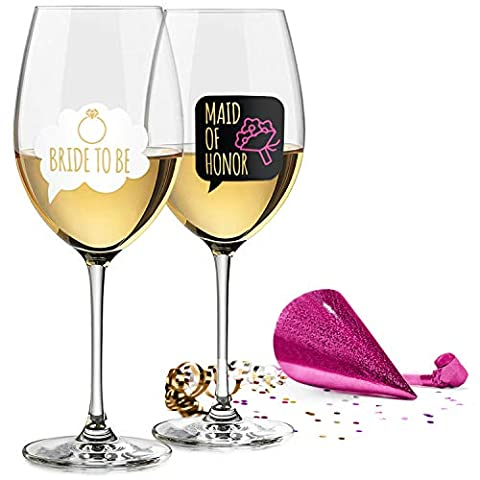 Bachelorette Party Decorations – Wine Glass Drink Markers – 18 Static Clings Reusable Stickers