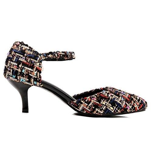 Sort Stilige Kvinner Lukkede Hæler Sandaler Taoffen xfOqnB4