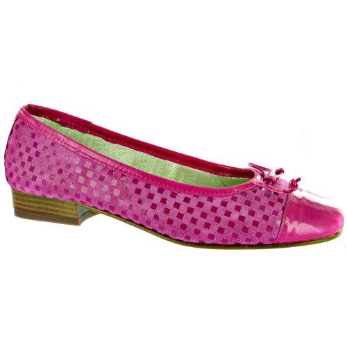 RIVA Andros Suede Ballerina/Womens Shoes Fuchsia