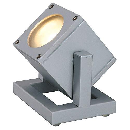 Slv cubix-i - Luminaria suelo con enchufe gu10 35w gris plata