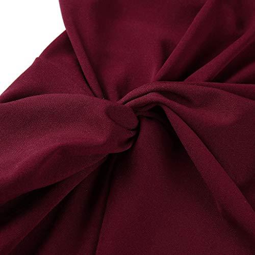 asimmetrico cocktail donnamaxi scoperto spalla lungo party da a con da elegante Abito collo scorrevole con sera apertura sexy rosa rdBWeCxoQE