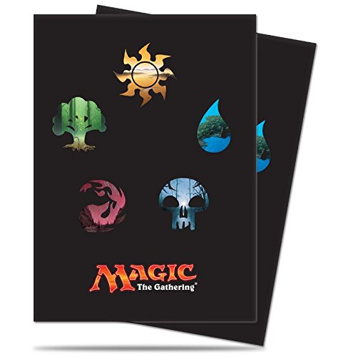 ACS Pacific Supply 160 Mana Symbol Deck Protectors Sleeves MTG Black [2-Pack Bundle] by Ultra Pro Mana 5 by ACS Pacific Supply