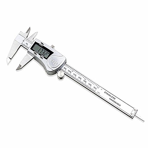 DZnNN Electronic Digital Caliper 6 inch - Full Stainless Steel IP54 Water Resistant Metal Conversion Vernier Caliper Measuring Tool with LCD Screen by DZnNN (Image #1)