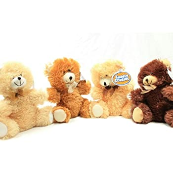 4 Cuddly Cousins Plush Sitting Stuffed Bears 7