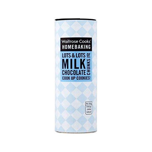 Cooks' Ingredients Belgian Milk Chocolate Chunks Waitrose 100g - Pack of 6