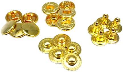ファミリーツール(FAMILY TOOL)バネホック No.5 (φ12.5mm) ゴールド 10組入 56355