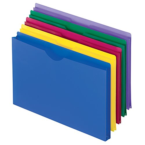 - Pendaflex Translucent Poly File Jackets, Legal Size, Assorted Colors, 5/Pack (50993)