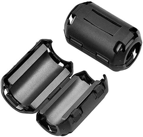 Schwarz TOOGOO 20 Stuecke Klipp Ferrit Ringkern RFI EMI Larm Suppressor Kabel Clip Fuer Kabel mit 3 mm 9 mm 5 mm 7 mm 13 mm Durchmesser Kabel