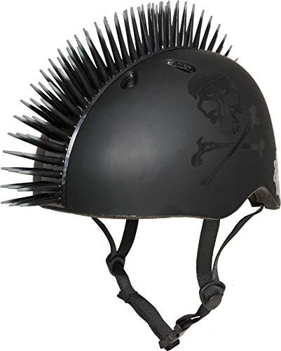 Krash Jolly Roger Mohawk Helmet, Youth 8+ Years, Black