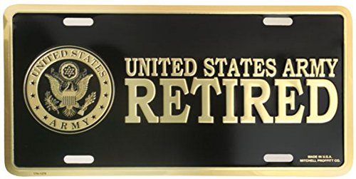 U.S. Army Retired License - Army Retired Plate License