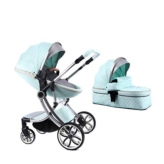 Newborn Baby high end Buggy Stroller pram with Convertible Design, Flat Lay Bed for Baby Comfort with Shock Absorbing