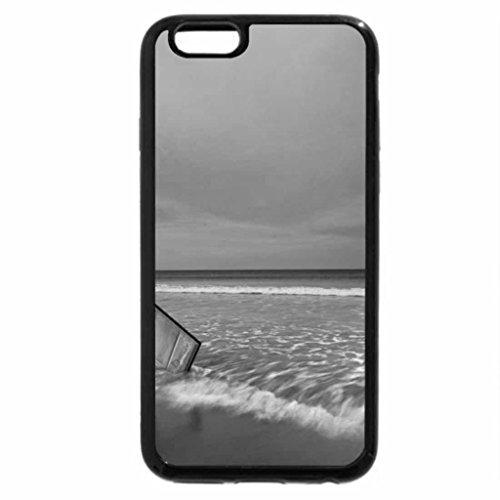 iPhone 6S Plus Case, iPhone 6 Plus Case (Black & White) - At the beach