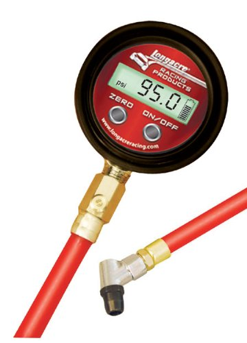 LONGACRE RACING 50358 DIGITAL TIRE GAUGE 0-125 PSI WITH ANGLE CHUCK AND EASY TO READ .5 PSI