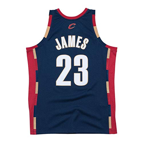 652439faeaa Lebron James Cleveland Cavaliers Mitchell and Ness Men s Navy Throwback  Jesey Medium