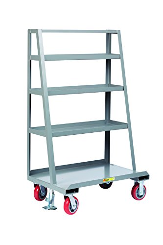 Little Giant AF4S-2448-6PYFL A-Frame Sheet and Panel Truck with Back Shelf Storage, 2000 lb. Capacity, Gray by Little Giant
