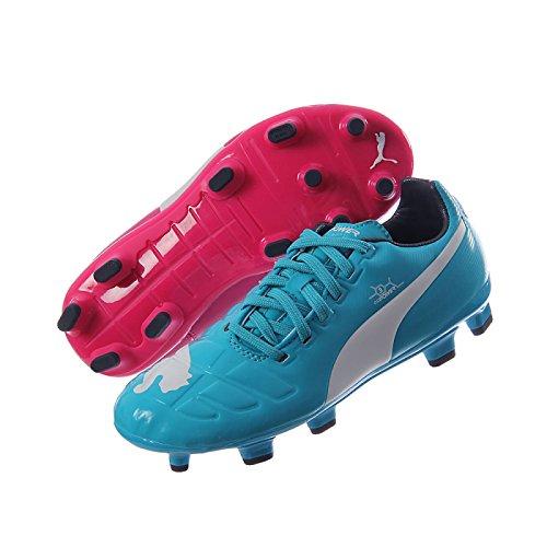 Puma evoPOWER 3figure PU Colore Blu per Bambini Firm Ground Moulded Stud Scarpe da calcio Size 5,5
