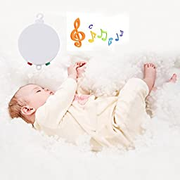 Ecandy Baby Crib Baby Bedding Battery-operated Musical Mobile Plays 35 Tunes