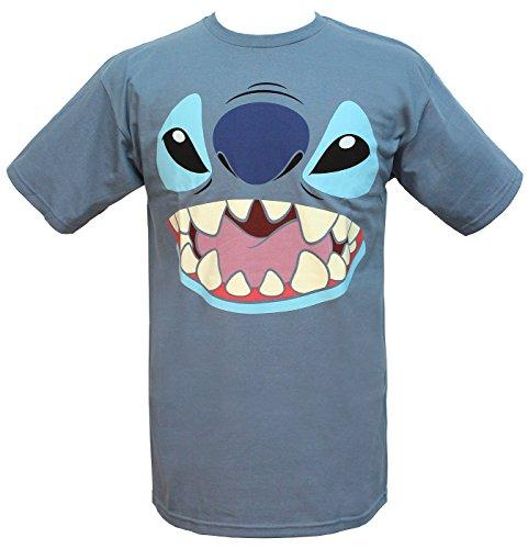 Disney Lilo and Stitch Big Face Costume T-Shirt (Medium, Blue) -