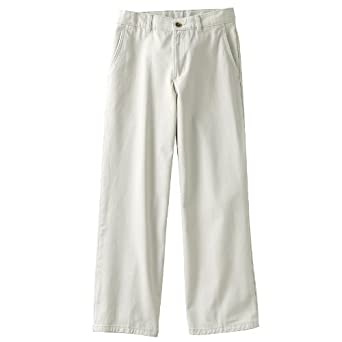 ffa37e4ef Image Unavailable. Image not available for. Color: Chaps Flat-Front Twill  Pants - Boys 8-20