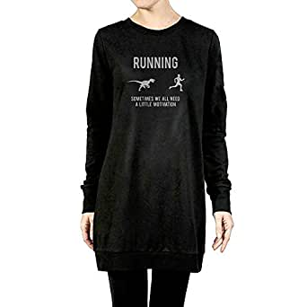 DE4K Mens Running Motivation Raptor Chase Fashion Pullover Hoodie Sweater Long Sleeve For Women