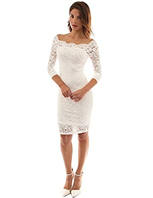 PattyBoutik Women's Off Shoulder Twin Set Floral Lace Dress