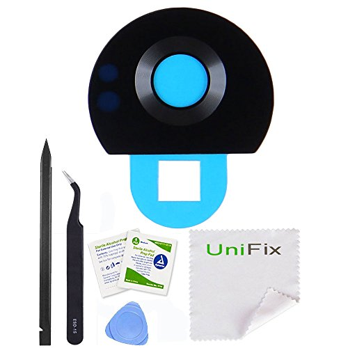 Unifix Back Rear Camera Glass Lens Replacement with Adhesive for Motorola Moto Z2 Play XT1710 (ALL CARRIERS) + Repair Tools