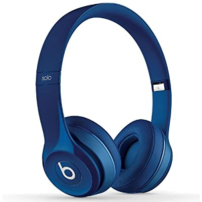 Beats by Dr. Dre SOLO 2 On Ear Headphones B0518 | Iconic Sound Tune with Emotion (Blue)