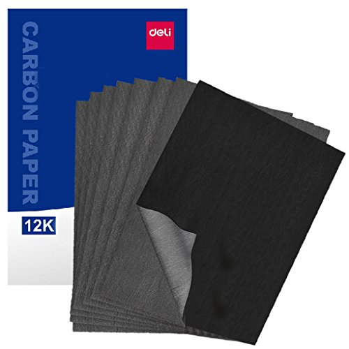 Carbon Transfer Paper for Drawing Carbon Paper for Tracing Graphite Sheets 100 Papers Black for on Woodworking, Paper, Canvas, Works on a Variety of Art Surfaces